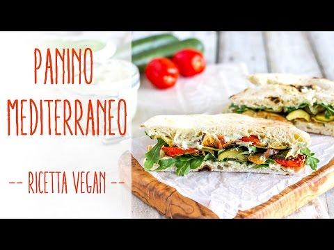 panino mediterraneo - ricetta vegan