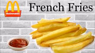 Make FRENCH FRIES like Mc'Donalds at home | Secret for a perfect golden crisp fries | Yummylicious..