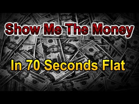 In 70 seconds flat! Show me the money!