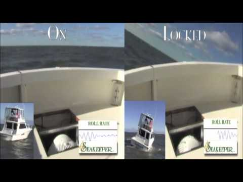 Seakeeper Gyros Roll Reduction Compilation May 2013