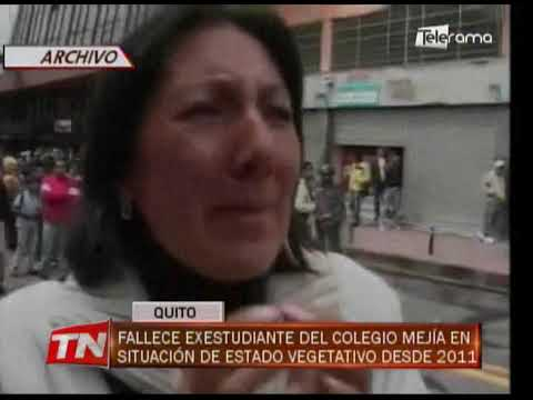 Fallece exestudiante del colegio Mejía en situación de estado vegetativo desde 2011