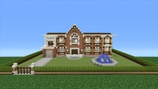 Minecraft Tutorial: How To Make A Suburban Mansion