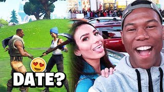 I Met A HOT Girl On Fortnite And Took Her On An Expensive Date! (Our First Meet)