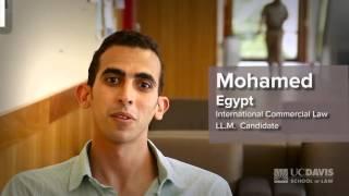 Student Testimonial: Mohamed, LL.M. Candidate (Egypt)