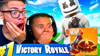 *NEW* BOTTLE ROCKETS & FORAGED CAMPFIRE COMING TO FORTNITE BATTLE ROYALE! 10 YEAR OLD KID LAGGING 😂