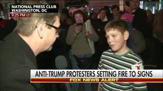 Get Billy Joel on the Phone Because This Kid at a Trump Protest Started the Fire