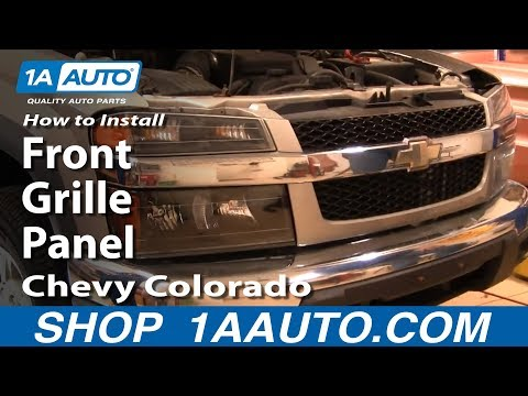 How To Install Replace Remove Front Grille Panel Chevy Colorado 04-12 1AAuto.com