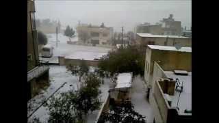 Karak Jordan  city photos : HEAVY SNOWFALL AL MARJ, AL KARAK / JORDAN 18/2/2011