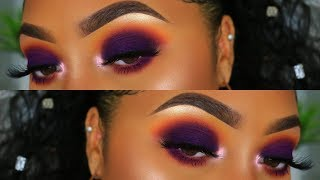 EASY PURPLE FALL SMOKEY EYE   Makeup Tutorial