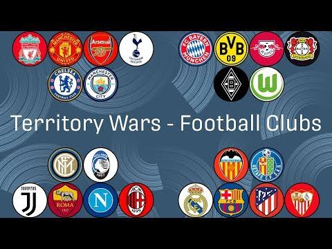 Football Clubs Marble Race - Territory Wars