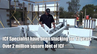 This is Step 1/Video 1 of The Five Key Components of Installing Insulated Concrete Forms.ICF Specialist have been stacking for 12 years and have done over 2 million square feet of ICFEveryone has their own method for stacking and we are sharing our secret sauce for a successful buildThis video covers JUST the stacking of the Insulated Concrete Forms with focus on these stepsStart from the cornersHave short side face a long sideWork your way inward to the centerMark your block and cut if neededStagger your block on each row when stackingWhen stacking plan for your windows and doorsWe will be covering the other key components in building with ICF in our upcoming videos. Get your FREE estimate or purchase your block Call 623.935.5004Check out our websitehttps://www.icfspecialist.com/Follow us on Facebook for updates on current projects https://www.facebook.com/ICF-Specialist-1545819495711334/