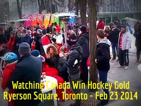 HiMY SYeD — Watching Team Canada Win Hockey Gold, Ryerson Square Toronto, Sunday February 23 2014
