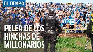 Violencia entre hinchas de Millonarios y Policía en Villavicencio | EL TIEMPO