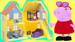 Peppa Pig Deluxe Playhouse with George and Toy Surprises / Toys Unlimited