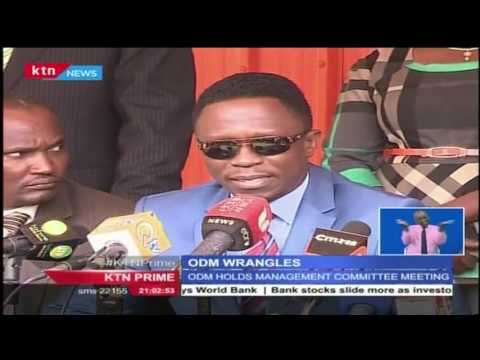 The top leadership in ODM has stem the growing rebellion led party secretary general Ababu Namwamba