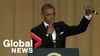 "Video ""Obama out:"" President Barack Obama's hilarious final White House correspondents' dinner speech MP3, 3GP, MP4, WEBM, AVI, FLV September 2019"