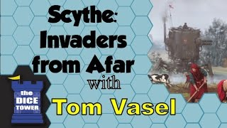 Tom Vasel takes a look at Scythe: Invaders from Afar! BGG link here: https://boardgamegeek.com/boardgameexpansion/199727/scythe-invaders-afar Find great ...