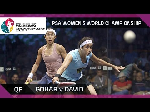 Squash: Gohar v David - PSA Women's World Championship QF Highlights