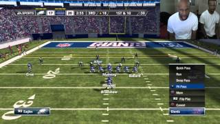 Madden 12: The Bro Cam: Eagles vs. Giants - The Funniest TD Ever! | xChaseMoney