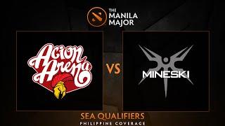Acion Arena vs Mineski.Sports5 - Game 1 - The Manila Major SEA Qualifiers - Philippine Coverage