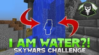 *THE BEST* I AM WATER! Hypixel Skywars TROLLING! (I AM STONE Challenge!)