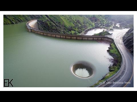 FASCINANTAN PRIZOR: Vodostaj jezera toliko narastao da se aktivirao odvod, a u njega je prvi put ušao dron (video)