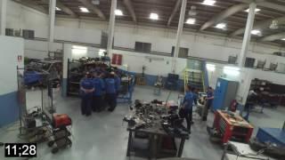 Projeto transdisciplinar da turma 23498/14 com motor Ford Fiesta em bancada (1ª fase)