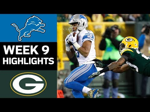 Lions vs. Packers | NFL Week 9 Game Highlights