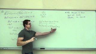 Intermediate Algebra Lecture C.1 Part 9