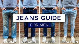 Video Men's Jeans Fit Guide   The Best Style Jeans For Your Physique MP3, 3GP, MP4, WEBM, AVI, FLV Mei 2019