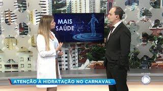 Nutricionista alerta sobre a importância da hidratação durante o carnaval