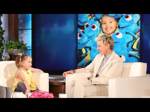 See Ellen get a Biology test from a little girl. So Cute!