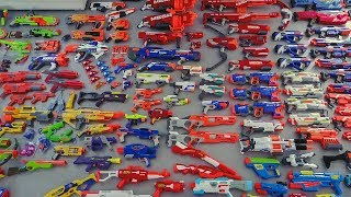 Overview of my Nerf arsenal.- - - - - - - - - - - - - - - - - - - - - - - - - - - - - -