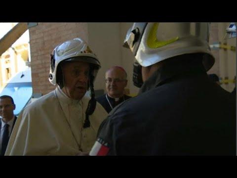 Ο Πάπας στο σεισμόπληκτο Καμερίνο