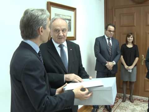 Președintele Nicolae Timofti l-a felicitat pe primul ministru Iurie Leancă cu ocazia zilei sale de naștere
