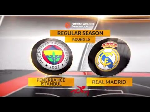 EuroLeague Highlights RS Round 10: Fenerbahce Istanbul 78-77 Real Madrid