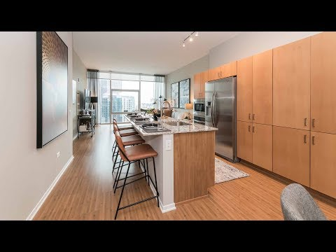 A spacious Streeterville one-bedroom model at Aston Chicago
