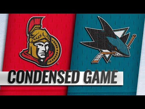 01/12/19 Condensed Game: Senators @ Sharks
