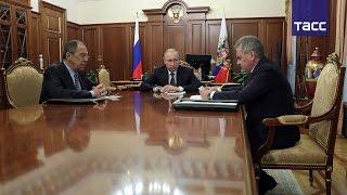 Владимир Путин сообщил о достижении договоренности по прекращению огня в Сирии