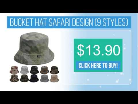 Bucket hat safari design (9 styles)