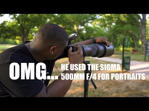 OMG... HE USED A SIGMA 500MM F/4 FOR PORTRAITS WITH THE SONY A9