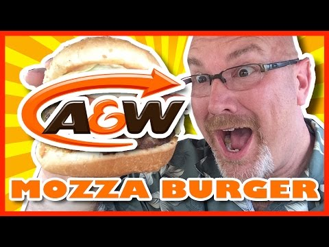 A&W Double Mozza Burger Review with Coupons