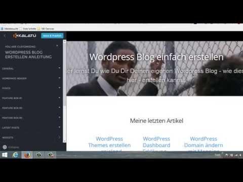 WordPress Theme anpassen via Theme Settings