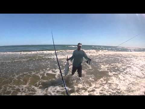 Fly fishing Padre Island National Seashore – Nov 2012