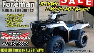 6. 2017 Honda Foreman 500 ATV Review of Specs / Features - TRX500FM1H - SALE @ Honda of Chattanooga TN