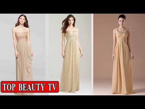 Top Gold bridesmaid dresses, gold long bridesmaid dresses for women