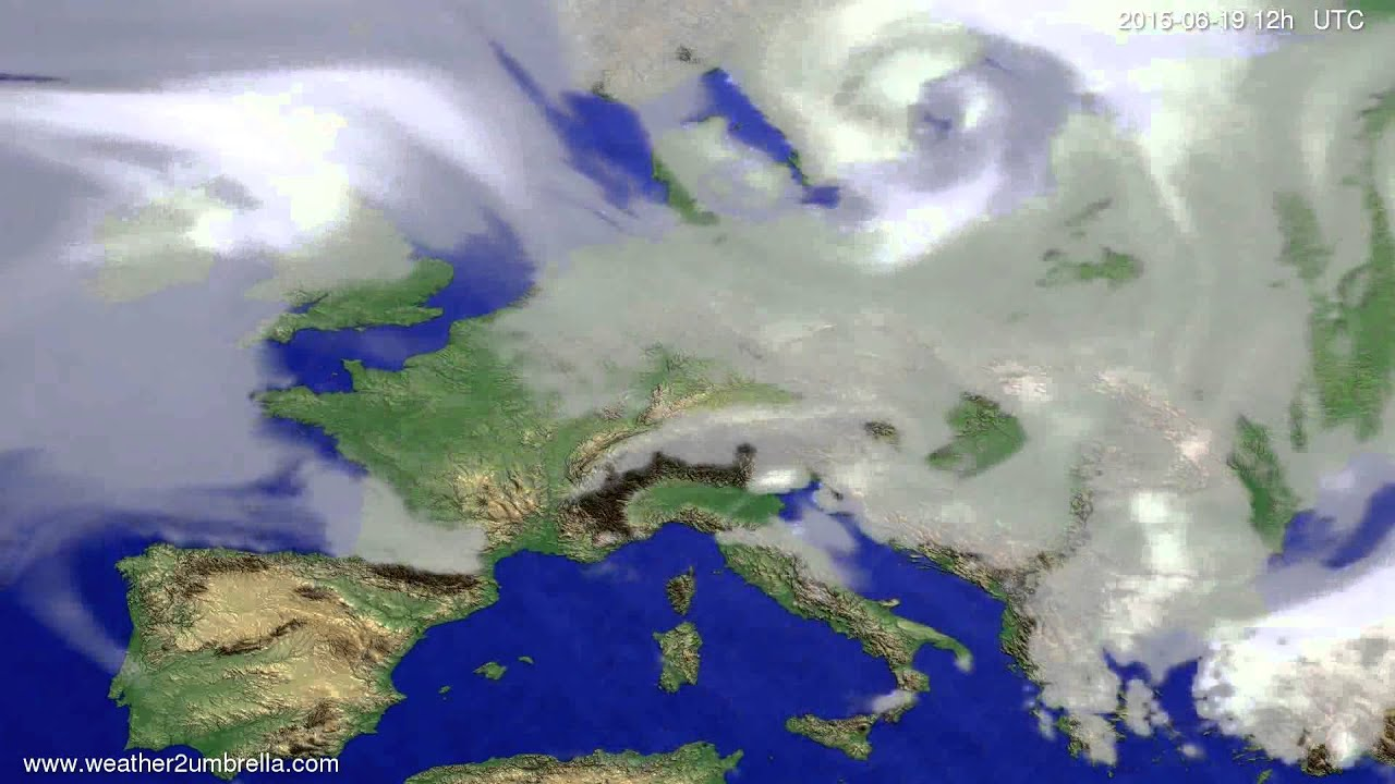 Cloud forecast Europe 2015-06-15