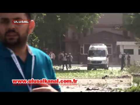 Gaziantepte bomba yüklü araç patlatıldı
