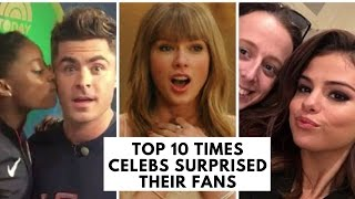 Video Top 10 Times Celebs Surprised Their Fans MP3, 3GP, MP4, WEBM, AVI, FLV April 2018