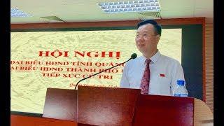 Đại biểu HĐND tỉnh và thành phố tiếp xúc cử tri phường Quang Trung